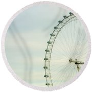 London Eye Closeup Round Beach Towel