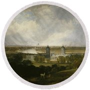 London From Greenwich Park Round Beach Towel