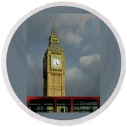 London Icons Round Beach Towel