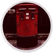 London Post Box 2 Round Beach Towel