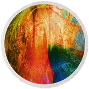 London Revisited Round Beach Towel