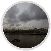 London River View Round Beach Towel