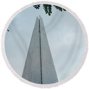London Shard Round Beach Towel