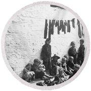 London Slum, C1890 Round Beach Towel