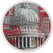 London St Paul's Dome Round Beach Towel