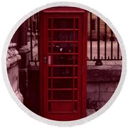 London Telephone Round Beach Towel