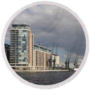 London Victoria Dock Round Beach Towel