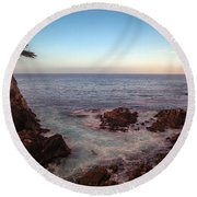 Lone Cyprus Pebble Beach Round Beach Towel