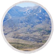 Lone Evergreen - Mount St. Helens 2012 Round Beach Towel