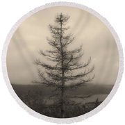 Lone Pine And The Bras D'or Round Beach Towel