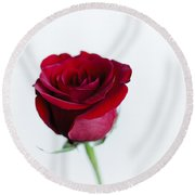 Lone Rose Round Beach Towel