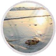 Lone Star And Friend Round Beach Towel