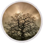 Lone Tree Round Beach Towel by Amanda Elwell