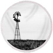 Lone Windmill Round Beach Towel