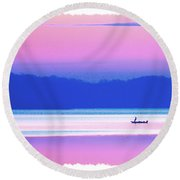 Lonefisherman Watersoft Smooth Round Beach Towel