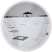 Loneliness Round Beach Towel