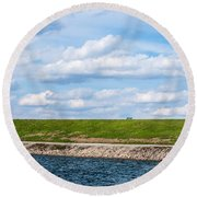 Lonely Bench Round Beach Towel