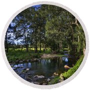 Lonely Creek Round Beach Towel