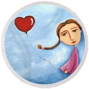 Lonely Girl Round Beach Towel