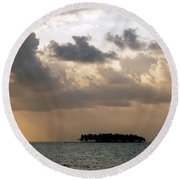 Lonely Island Round Beach Towel