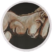 Lonely Night - Nudes Gallery Round Beach Towel