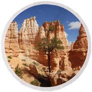 Lonely Trees Round Beach Towel