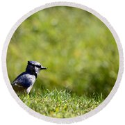 Lonesome And Blue Round Beach Towel