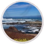 Lonesome Gull Round Beach Towel