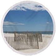 Long Island Beach Round Beach Towel