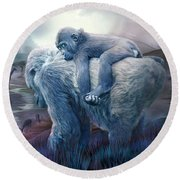 Silverback Gorilla - Long Journey Home Round Beach Towel