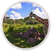 Long Neck Round Beach Towel