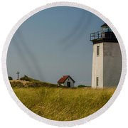 Long Point Lighthouse  Round Beach Towel