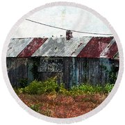 Long Since Abandoned - Back To Nature Round Beach Towel