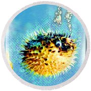 Long-spine Fish Round Beach Towel