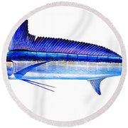 Longbill Spearfish Round Beach Towel