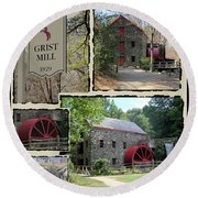 Longfellow's Grist Mill Round Beach Towel by Patricia Urato