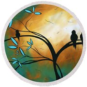Longing By Madart Round Beach Towel