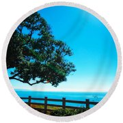 Longing For The Sea Round Beach Towel