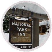 Longmire National Park Inn Round Beach Towel