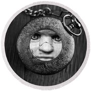 Look Behind You Round Beach Towel by Edward Fielding