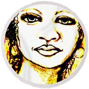 Look In The Mirror - Make A Change Round Beach Towel