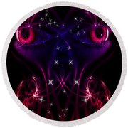Look Into My Eyes Round Beach Towel by Nathan Wright