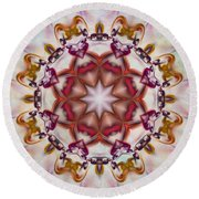 Look Into The Center Round Beach Towel