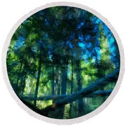 Look Into The Reflection Round Beach Towel