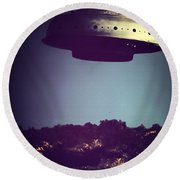 Look... It's A Flying Saucer Round Beach Towel