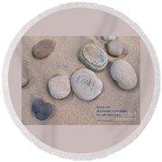 Look - With Haiku Round Beach Towel