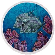 Lookdowns Pair Round Beach Towel