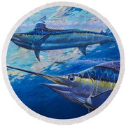 Lookers Off0019 Round Beach Towel by Carey Chen