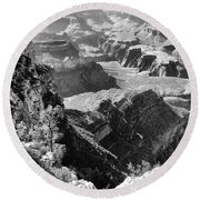 Looking Down On Grand Canyon Round Beach Towel