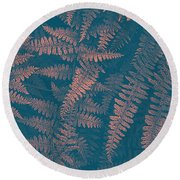 Looking At Ferns Another Way Round Beach Towel